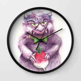 A Wee Imp and his Prize Radish Wall Clock