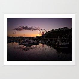 Torquay Harbour Sunset Art Print