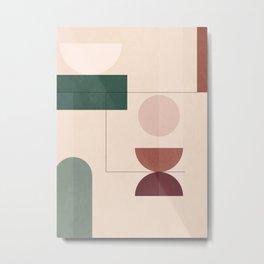 Geometric Shapes 67 Metal Print