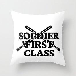 SOLDIER FIRST CLASS Throw Pillow