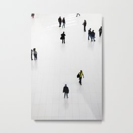 NYC Commuters Metal Print