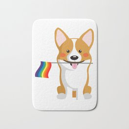 LGBT Gay Pride Flag Corgi - Pride Women Gay Men Bath Mat