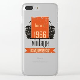 1966 The Birth Of Legends T-Shirt Birthday Gift Clear iPhone Case