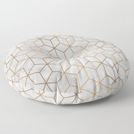 Marbled Copper Cubes Floor Pillow