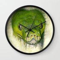 monty python Wall Clocks featuring Python Art by ChiaraLily