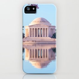 Cherry Blossoms at Jefferson Memorial in Washington DC iPhone Case