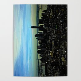 Artistic NYC Skyline Poster