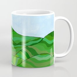 Tea fields landscape Coffee Mug