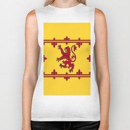 RED LION & YELLOW ROYAL BANNER OF SCOTLAND Biker Tank