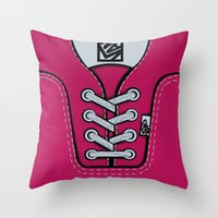 vans Throw Pillows featuring Pink Vans shoes iPhone 4 4s 5 5s 5c, ipod, ipad, pillow case and tshirt by Three Second