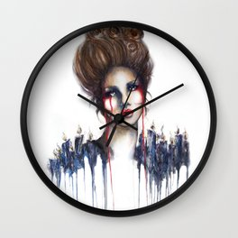 Burn // Fashion Illustration Wall Clock