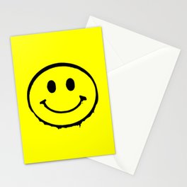smiley face rave music logo Stationery Cards