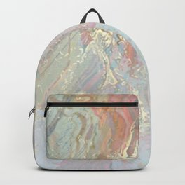 Pastel unicorn marble Backpack