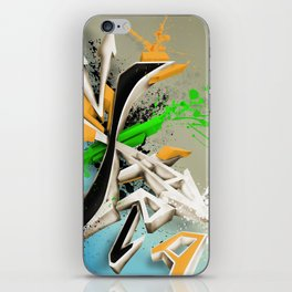Extra grafitti 3d abstract design iPhone Skin