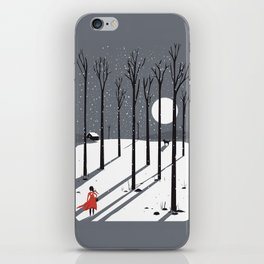 little red cap iPhone Skin