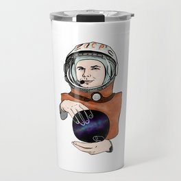 Yuri Gagarin. Space day. Travel Mug