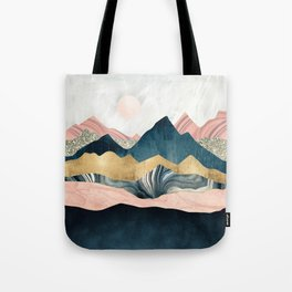 Plush Peaks Tote Bag