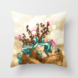 Commissions | Forest Nymph Throw Pillow