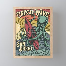Catch the Wave Framed Mini Art Print