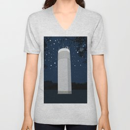 Tower in the forest Unisex V-Neck