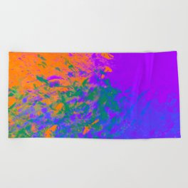 Iridescent Fury Beach Towel