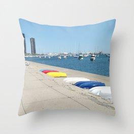 Chicago, Chicago shoreline, Skyline, Lake Michigan Throw Pillow