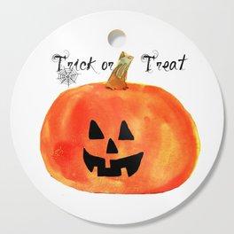 Trick or Treat Jack-O-Lantern, Halloween Pumpkin Cutting Board