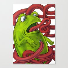 Frogs eat Insects Canvas Print