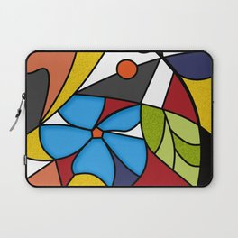 Abstraction. Curves and bends. Color mosaic . Laptop Sleeve