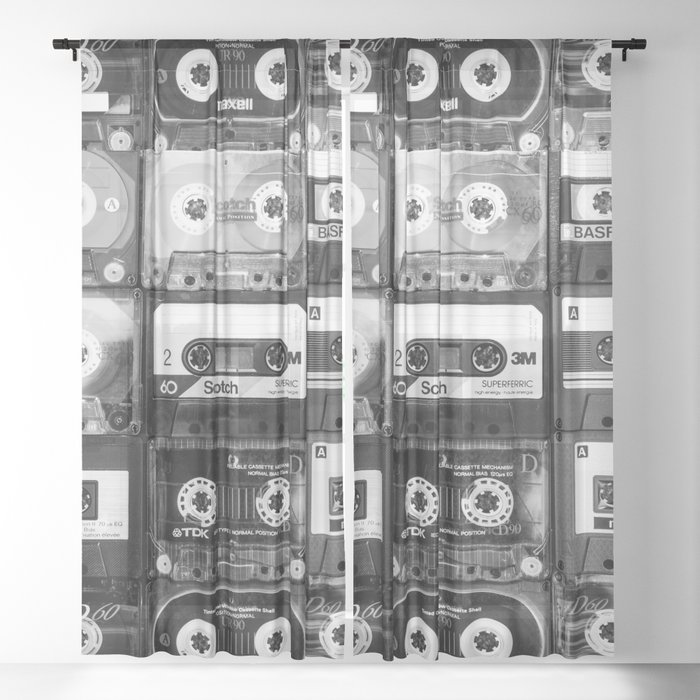 Something Nostalgic - black and white #decor #society6 #buyart Sheer Curtain