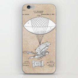 patent art Spalding Flying Machine 1889 iPhone Skin