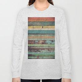 Wooden Vintage Long Sleeve T-shirt