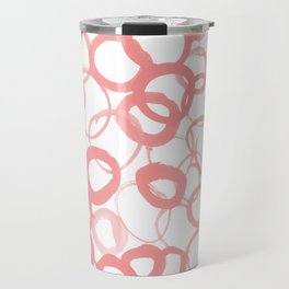 Watercolor Circle Rose Travel Mug