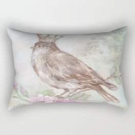 French Crown and Feathers Rectangular Pillow