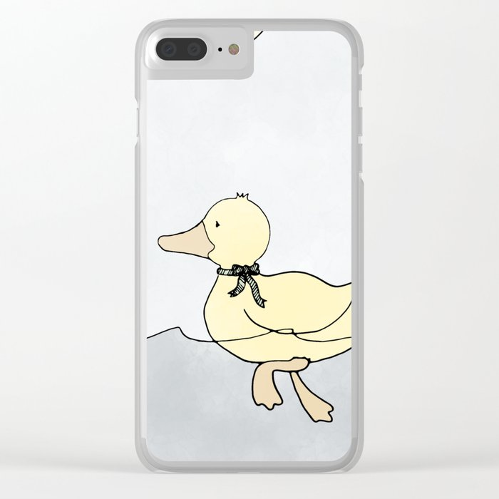 Dashing Duck Clear iPhone Case