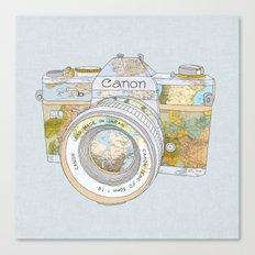 TRAVEL CAN0N Canvas Print