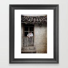 Morning from San Esteban Catarina, El Salvador Framed Art Print