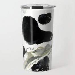 Baby Panda, Panda Bear Design, Asian ink Art Travel Mug
