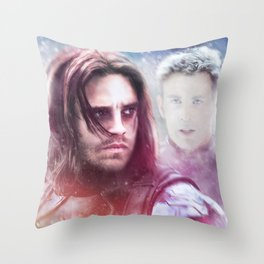 Winter Soldier - The Angel On My Shoulder (Steve and Bucky) Throw Pillow