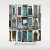 india Shower Curtains featuring INDIA - Doors of India by Shana's Shop