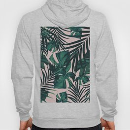 Tropical Jungle Leaves Pattern #5 #tropical #decor #art #society6 Hoody
