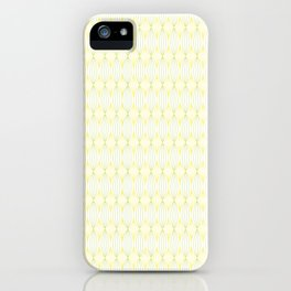 Yellow & Green Tangled Lines Pattern iPhone Case
