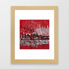 philadelphia city skyline Framed Art Print