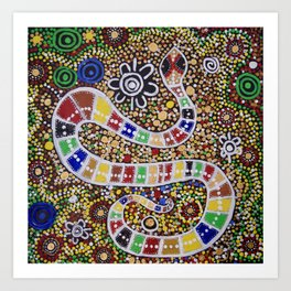THE RAINBOW SERPENT Art Print