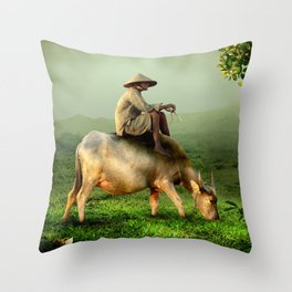 Resting Shepherd Throw Pillow