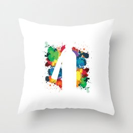 Fire Extinguisher Spray Paintings Graffiti Throw Pillow
