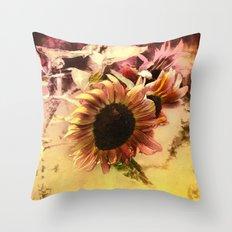 End of Season Sunflower Throw Pillow