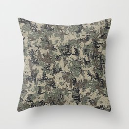 Sex poses camouflage Throw Pillow