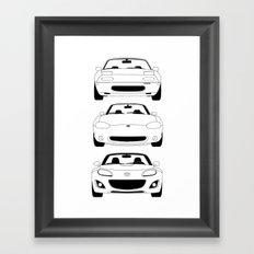 MX-5/Miata Generations Framed Art Print