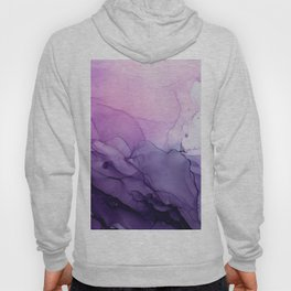 Purple Amethyst Crystal Inspired Abstract Flow Painting Hoody